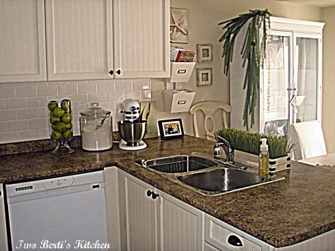 Kitchen Update   Looks Like Jamocha Granite Laminate Countertop