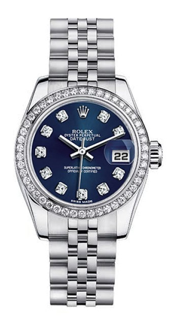 8ff80811b Rolex Datejust Steel Custom Diamond Bezel Blue Diamond Dial Womens Watch -  on #sale 57% off @ #TrueFacet