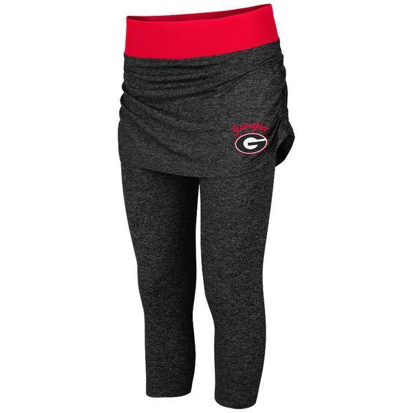 Georgia Bulldogs Colosseum Women's Bikram Short Leggings - Charcoal - $44.99