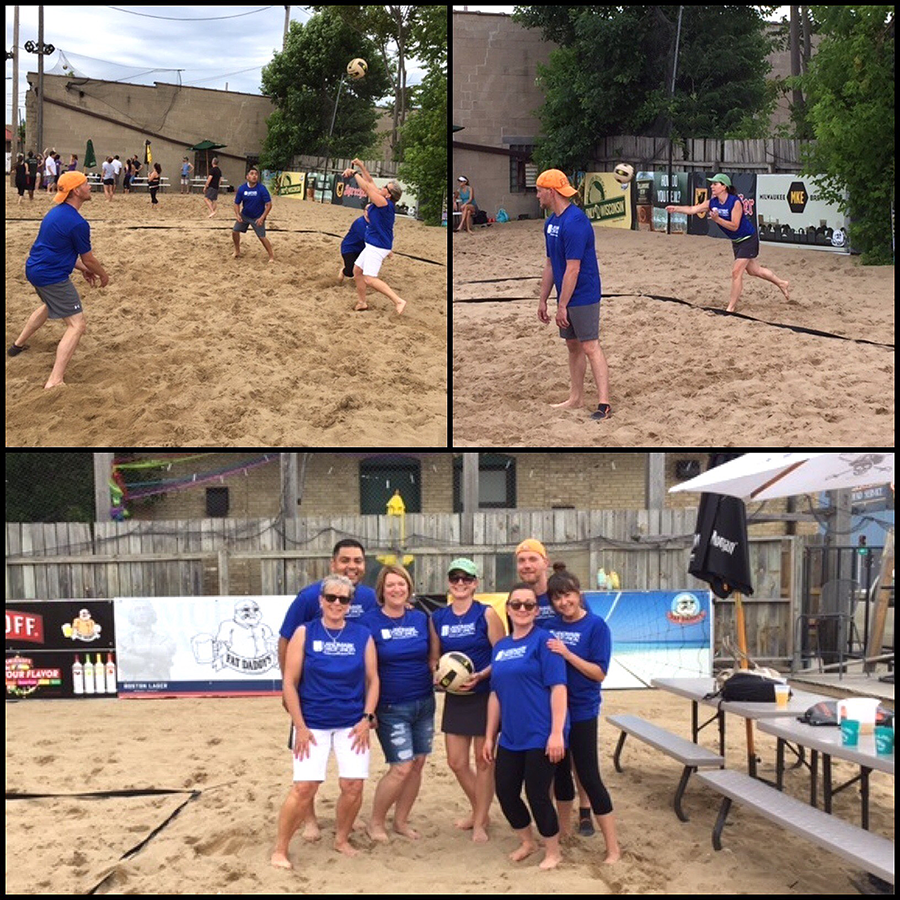 Our Mortgage Officers Putting Their Volleyball Game On Display To Benefit The Greater Milwaukee Association Of Realtors You Volleyball Games Volleyball Photo S