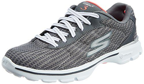 NEU SKECHERS Damen Fitness Sneakers Walking Turnschuh GO WALK 3 FITKNIT Schwarz | eBay