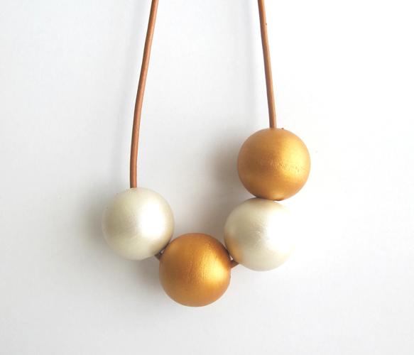 Wood & Leather Necklace Acessórios, Colares, Biju