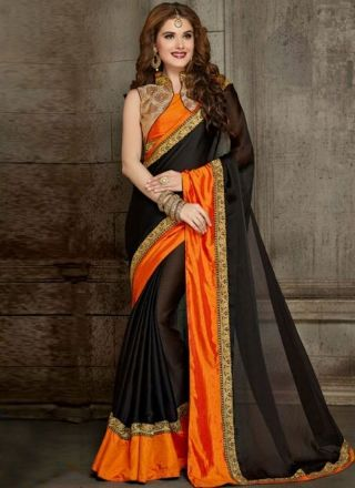 d993442aa1 Pin by shraddha shingala on Buy Party Wear Sarees | Chiffon saree, Plain  chiffon saree, Stylish blouse design
