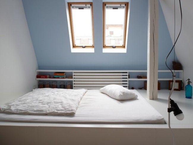 einfaches Design Schlafzimmer auf dem Dachboden viel Charme - schlafzimmer design 18 ideen bilder