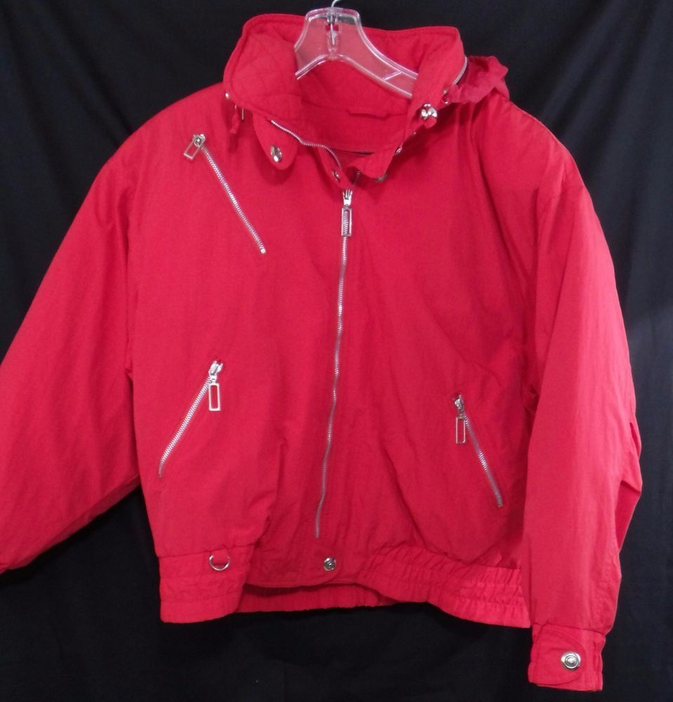 VTG 80s Red London Fog Rain Jacket Coat Size Large L Russian Gangster #LondonFog #Rainwear