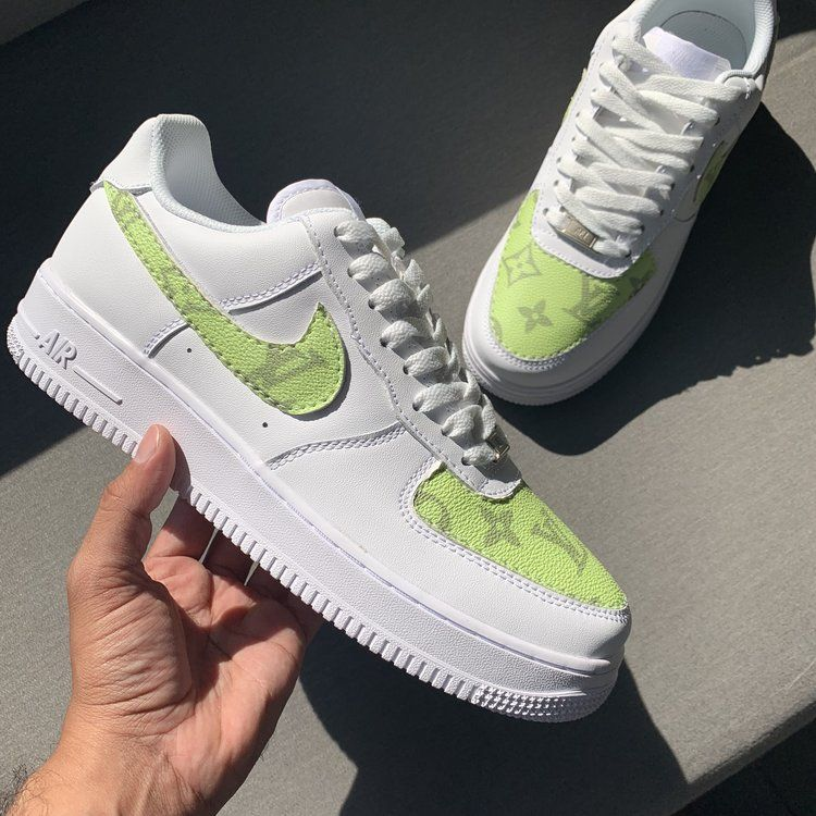 Nike Air Force 1 Fresh Customs   Sneakers fashion, Hype