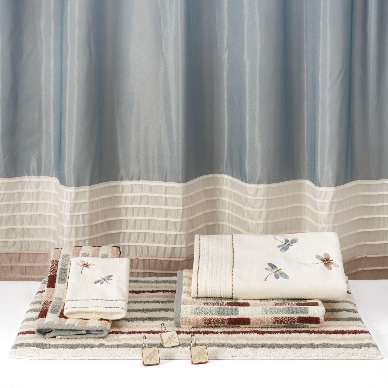 Home Classics Shalimar 12 Pk Dragonfly Shower Curtain Hooks