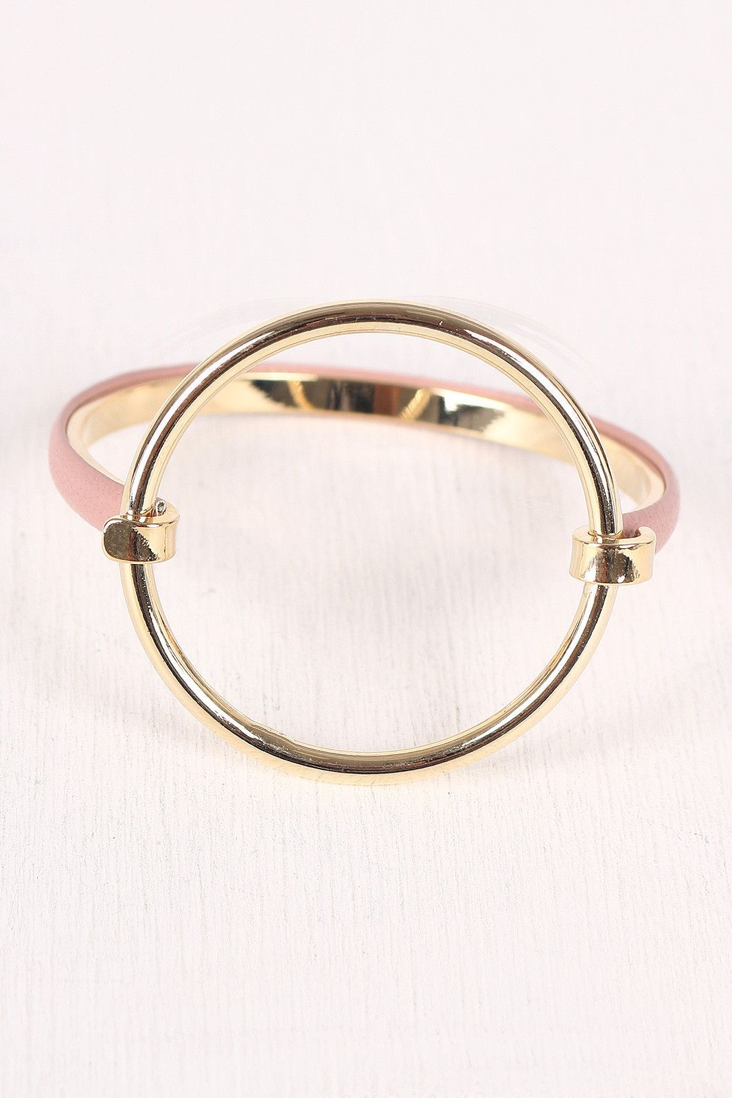 Circular accent hinge bangle bracelet products