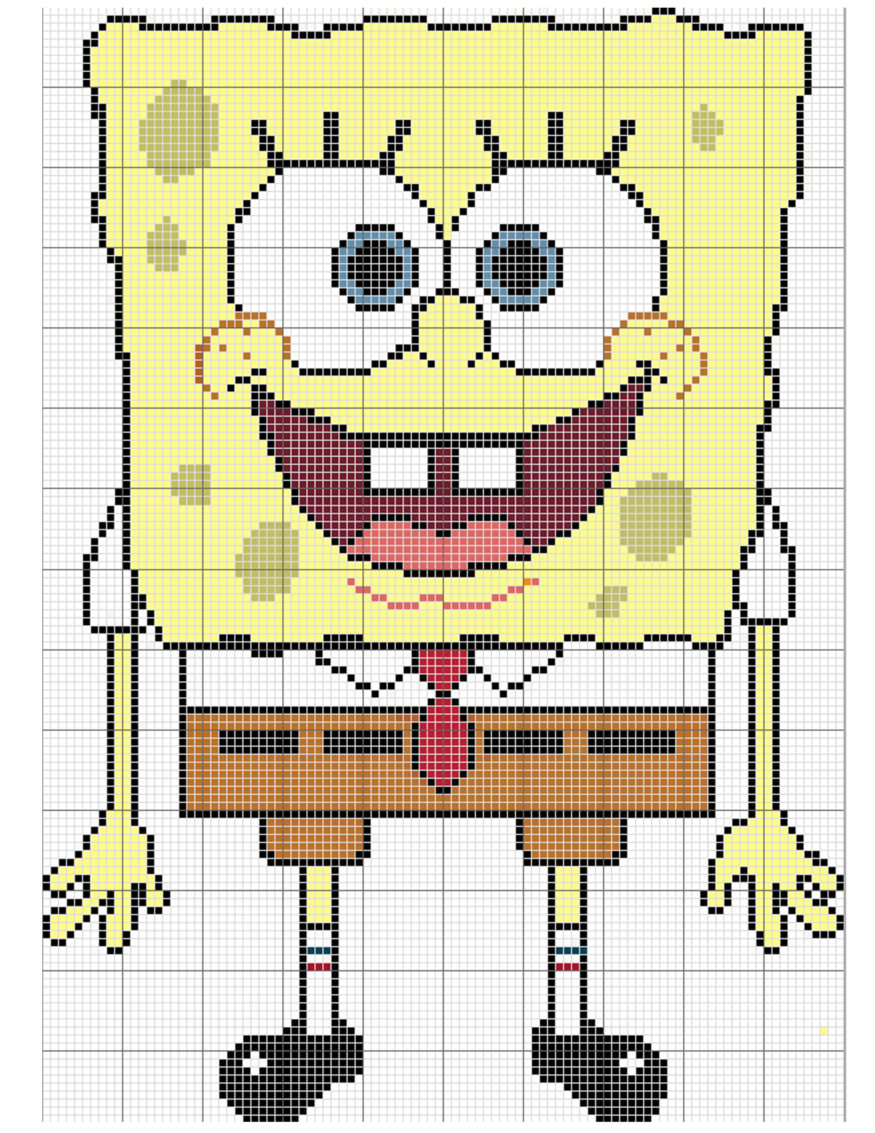 Spongebob crochet afghan free pattern sponge bob crocheted spongebob crochet afghan free pattern bankloansurffo Image collections