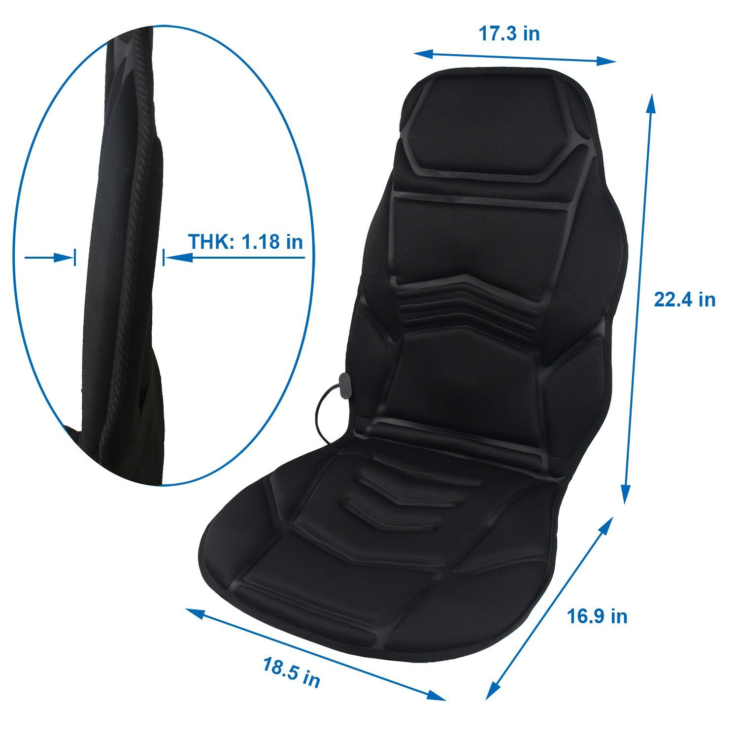 Massage Chair Cover Massage Car Seat Cushion Sotion Electronic Vibrating Car Seat