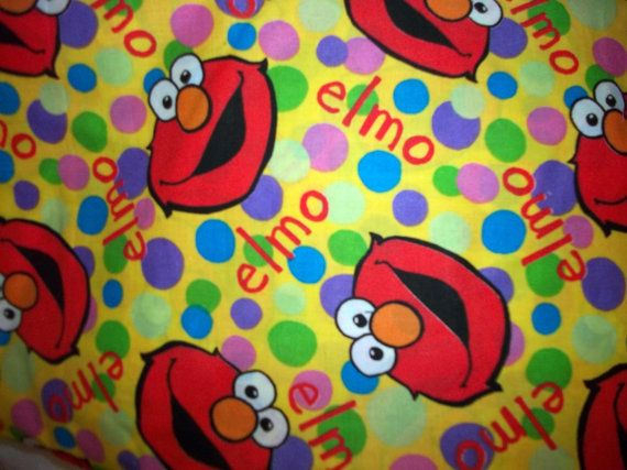 Cotton Hard To Find Elmo Fabric 1yard Fabric Elmo Elmo Party