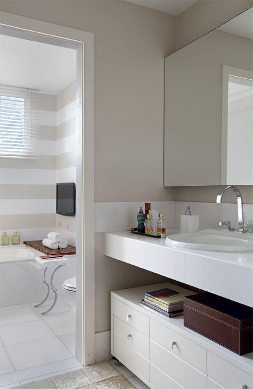 Ba o de apartamento en la playa de san conrado rio for Banos modernos para apartamentos