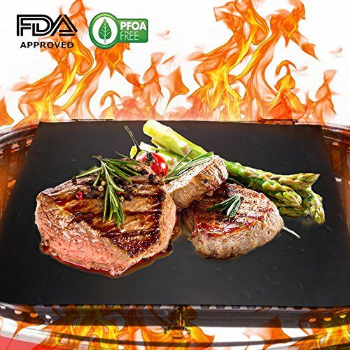 Homar 4 Pcs BBQ Grill Mats - Double Sided Grill Sheets Best in BBQ Grilling Accessories - Healthy Non Stick Perfect for Outdoor and Indoor Baking Burgers, Hot Dogs, Steaks, Vegetables & More! >>> Find out more about the great product at the image link.