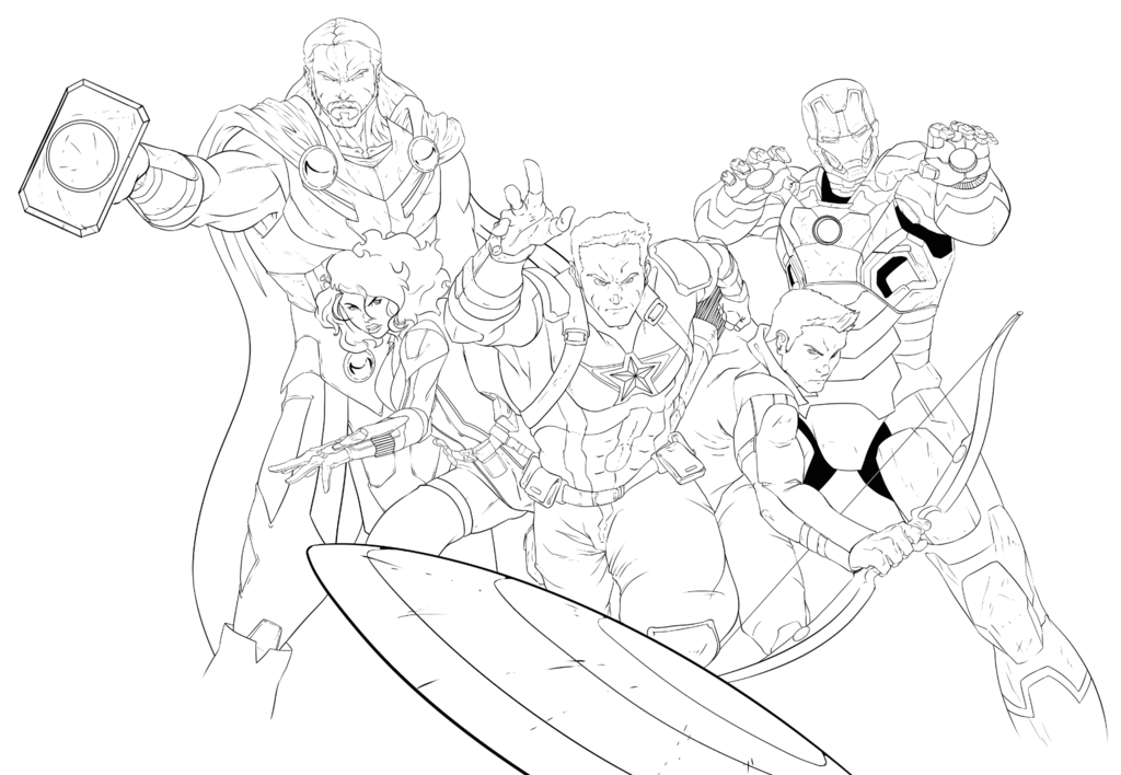 Avengers Age Of Ultron Wip2 Marvel Coloring Coloring Pages Avengers Tattoo