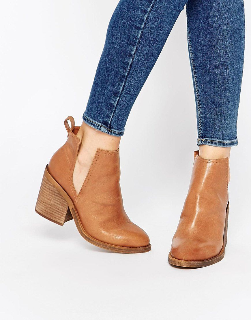 Size 7 Windsor Smith Sharni Tan Leather Cut Out Ankle Boots ...