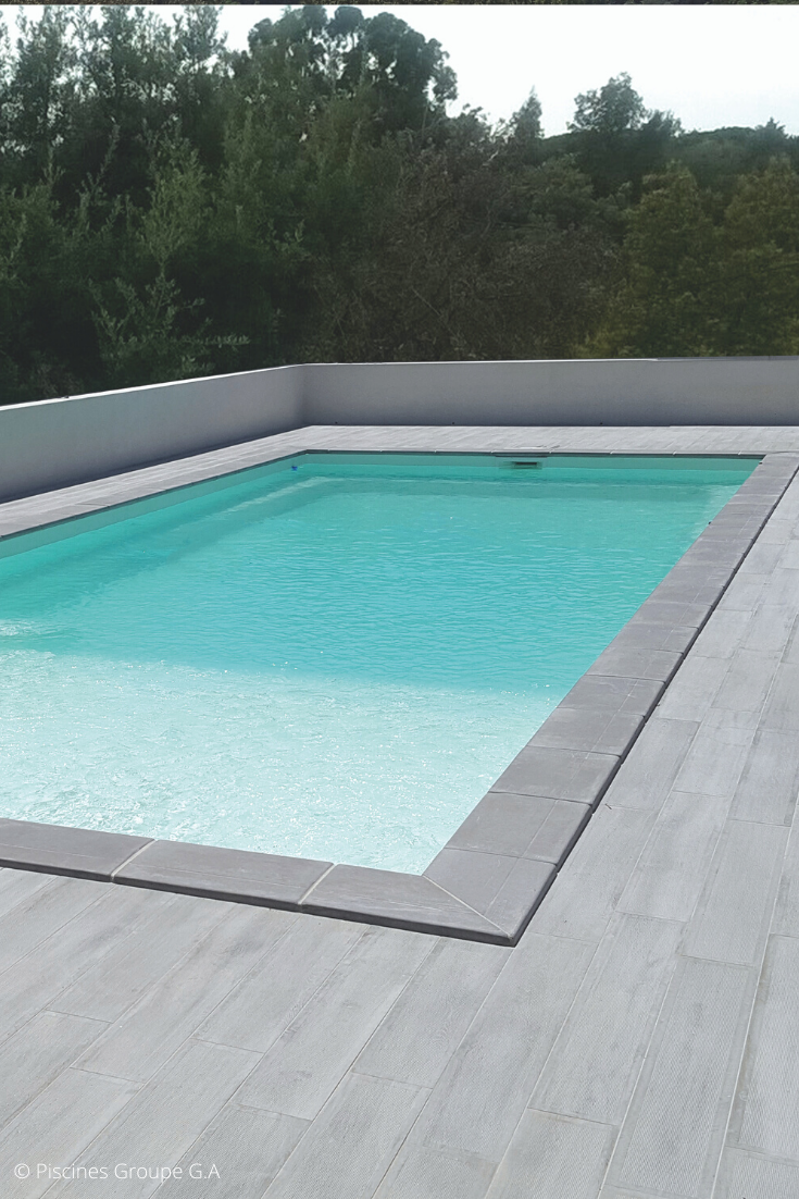 Piscine Coque Rectangulaire Grise Pools Backyard Inground Small Pool Design Pool Houses