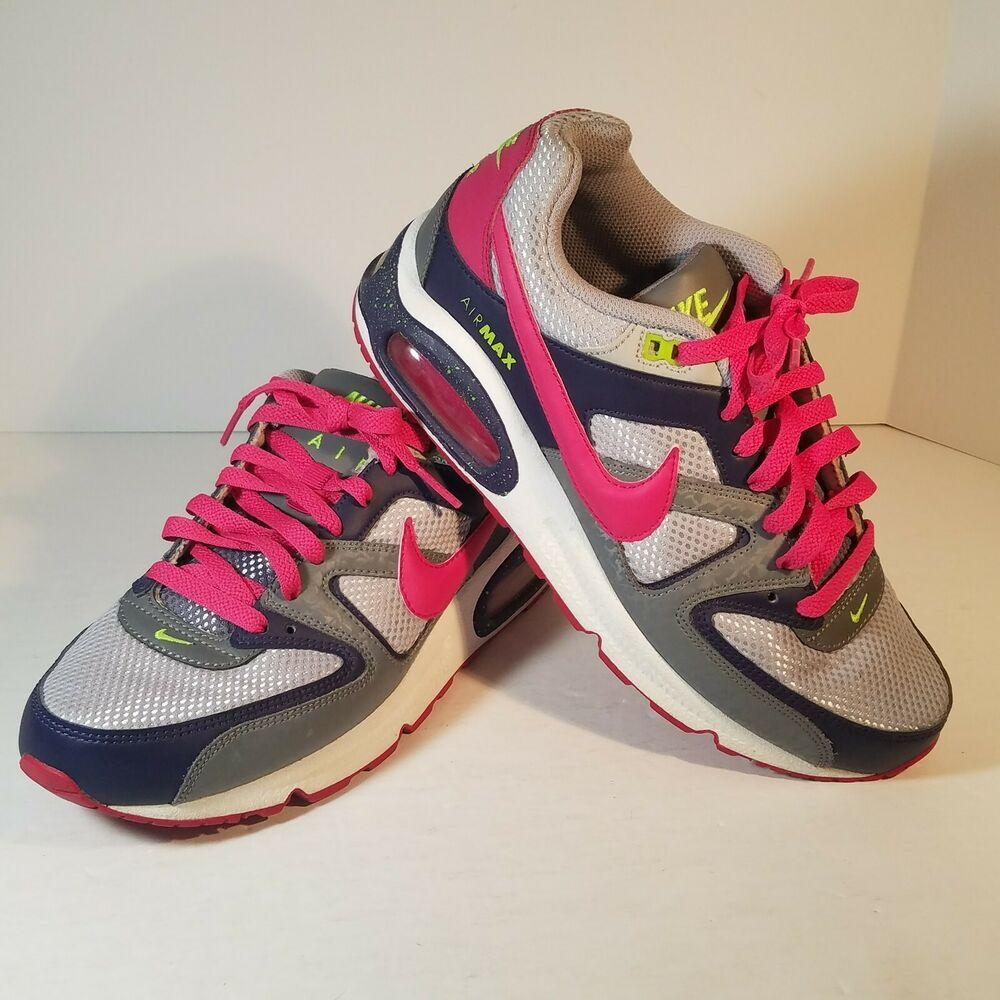 low priced a2942 abc64 Nike Air Max Command Womens Athletic Shoes Size 8 Gray Purple Pink  397690-063 -