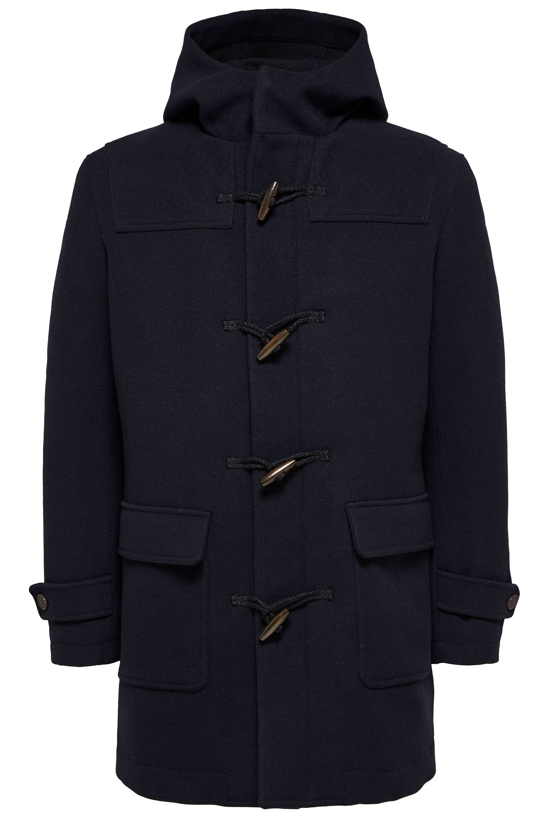 Bedrägeri Klaga djup  Mens Selected Homme Duffel Wool Coat - Blue | Coat, Wool coat ...
