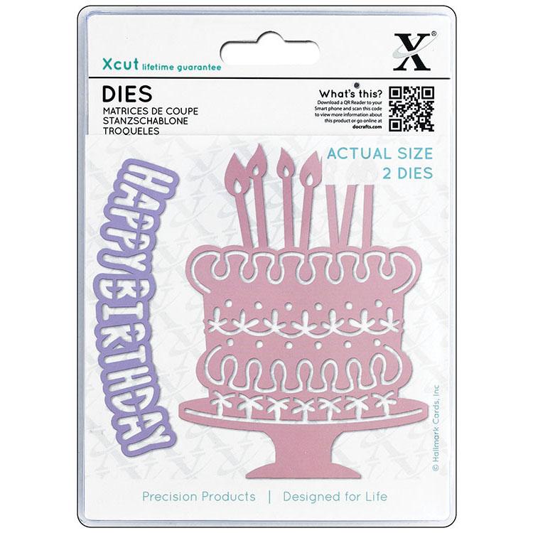 DoCrafts Xcut Birthday Cake Die Set