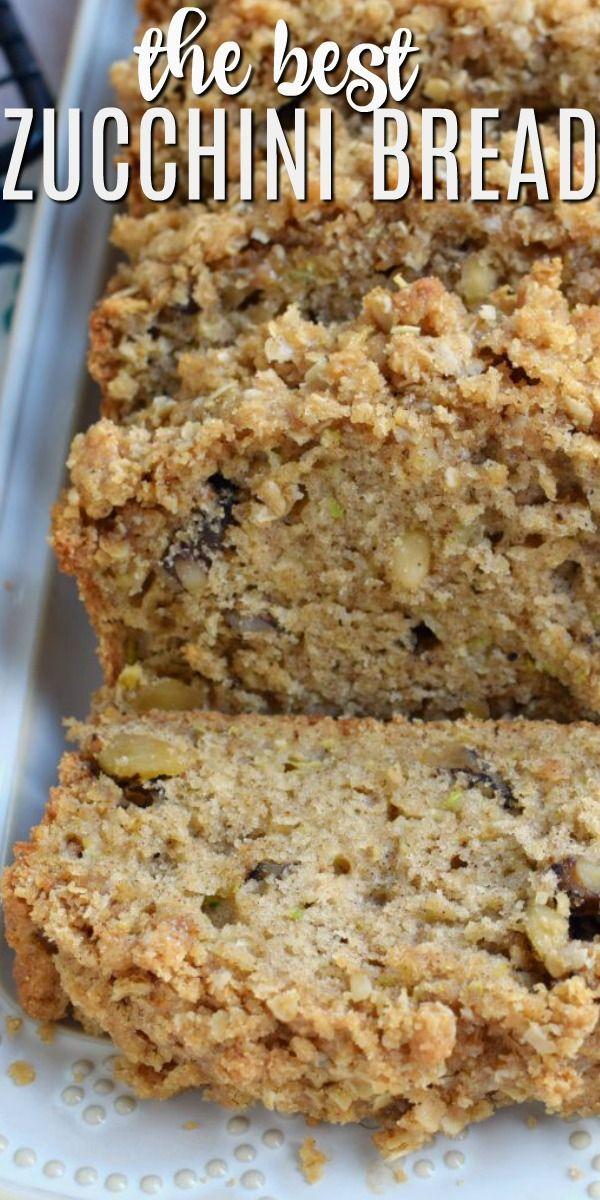 Crunchy Streusel Zucchini Bread - Shugary Sweets