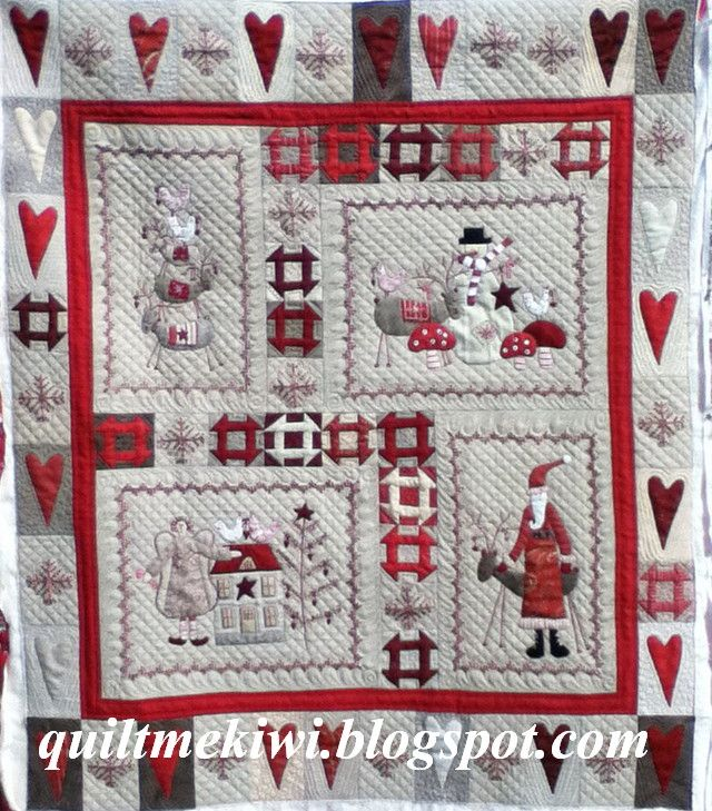 Scandinavian Christmas A Lynette Anderson Design Made By Maree Quilted By Quiltmekiwi Christmas Quilts Holiday Quilts Country Quilts