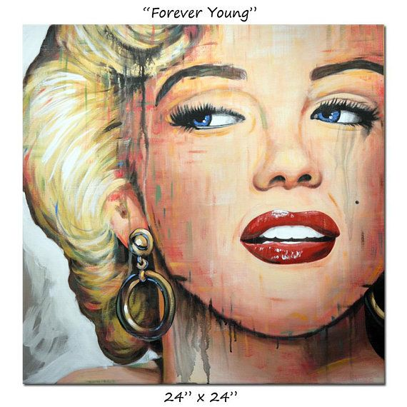 7e90715904f Marilyn Monroe Original Portrait Painting Hollywood icon Art by Amy ...