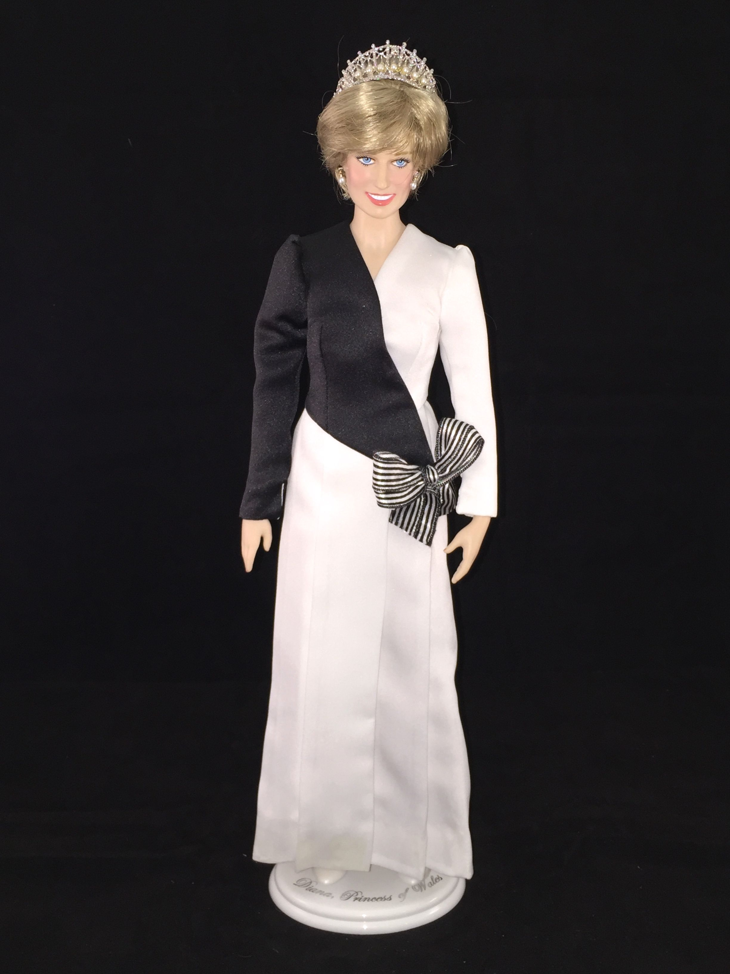 This Franklin Mint Diana doll is wearing a custom replica of a ...