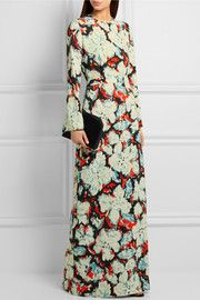 MSGMPrinted twill gown