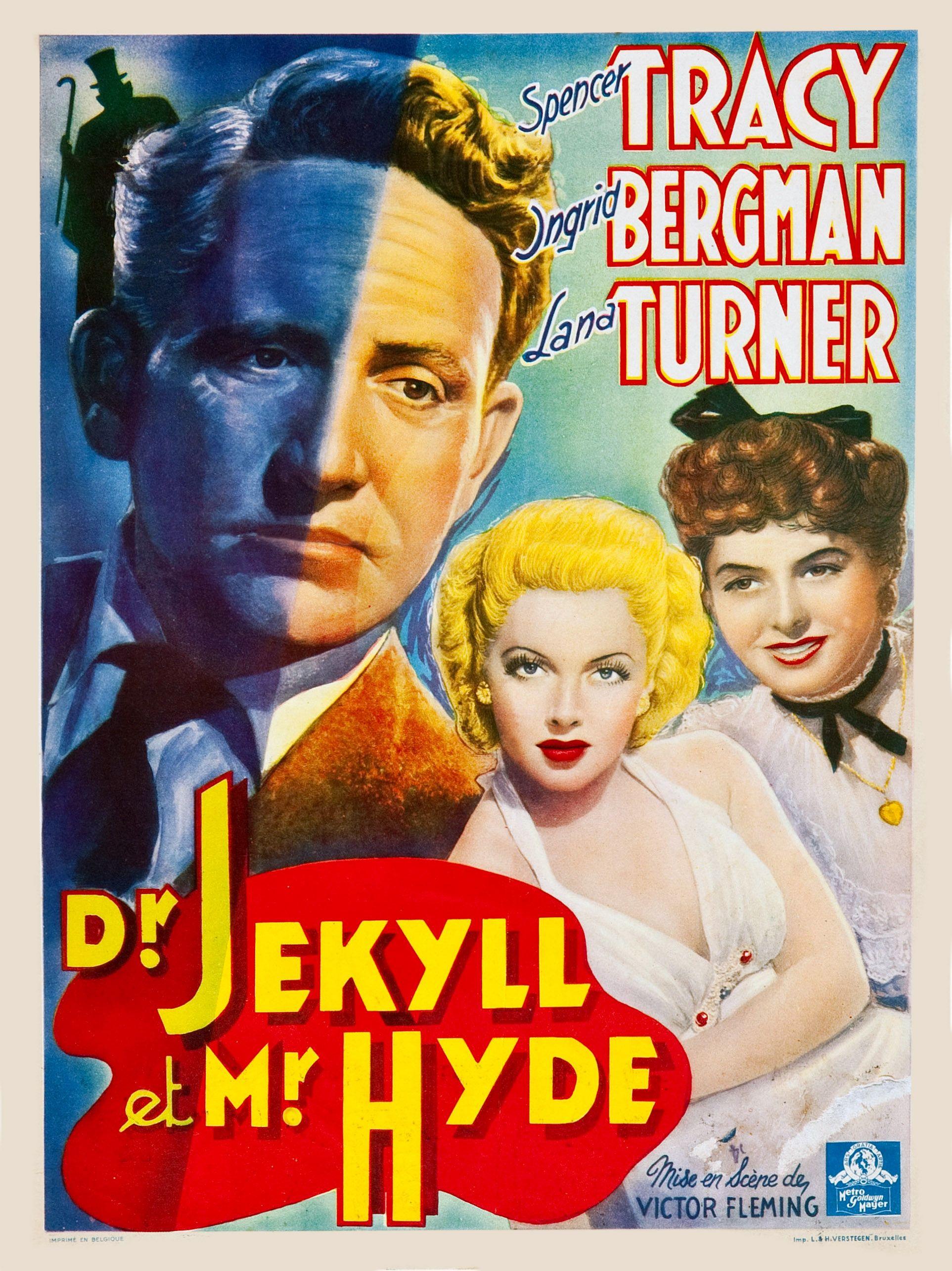 Dr Jekyll /& Mr Hyde Lana Turner vintage movie poster