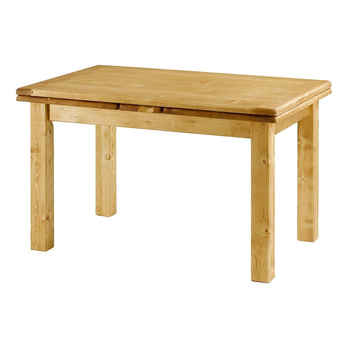 Table De Ferme En Pin 120 Cm Avec Allonges 50 Cm Oregon