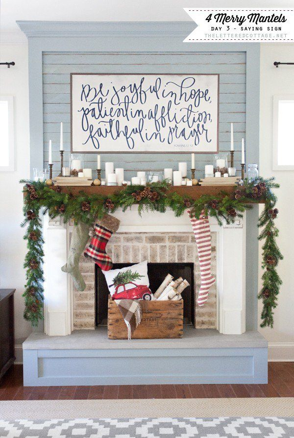 Merry Mantels | House Of Belonging | Saying Sign | The Lettered Cottage |  YouTube Series