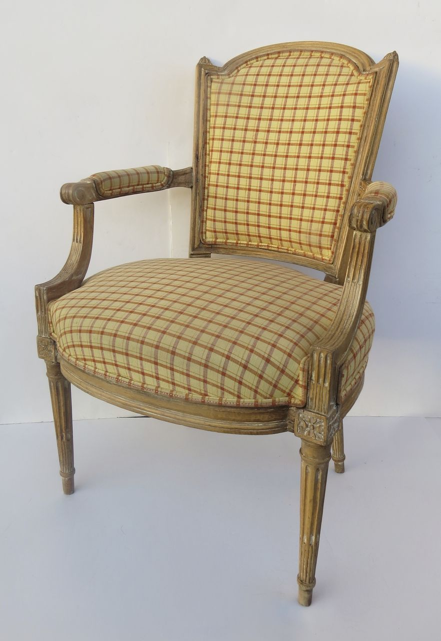 French period louis xvi fauteuil arm chair chair french