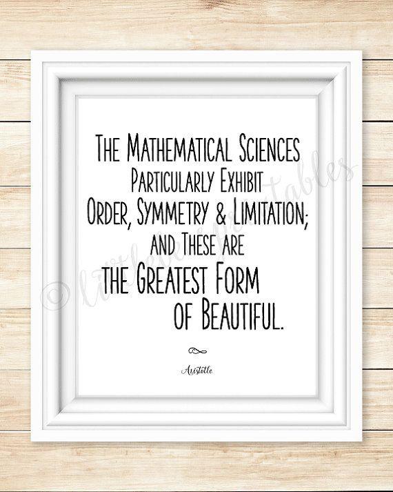 Math Quote Aristotle Printable Wall Art Mathematical Etsy Math Quotes Mathematics Quotes Math