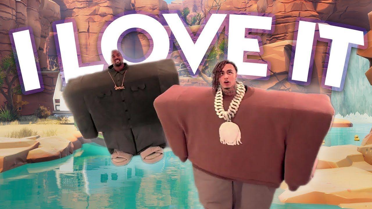 Kanye West Lil Pump I Love It Fortnite Parody Youtube Lil Pump Kanye West Kanye