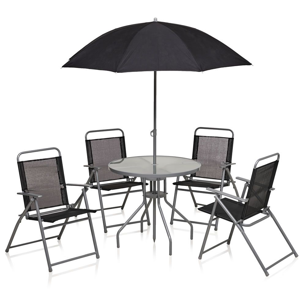Exceptional Wilko Round Patio Set 6pc Black For £60.00 See More