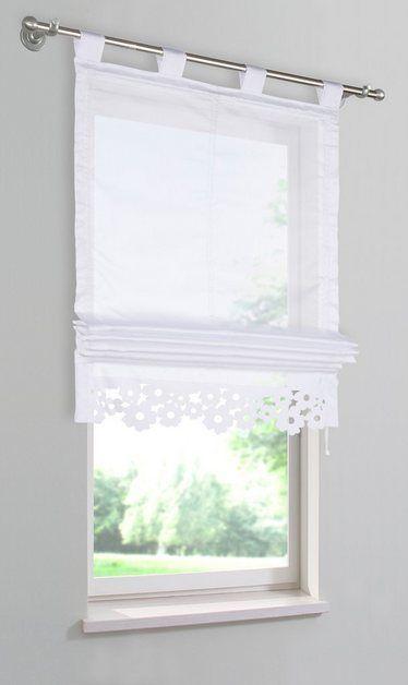 Raffrollo Venedig Mit Schlaufen In 2020 Bad Fenster Vorhange Raffrollo Fenster Dekor
