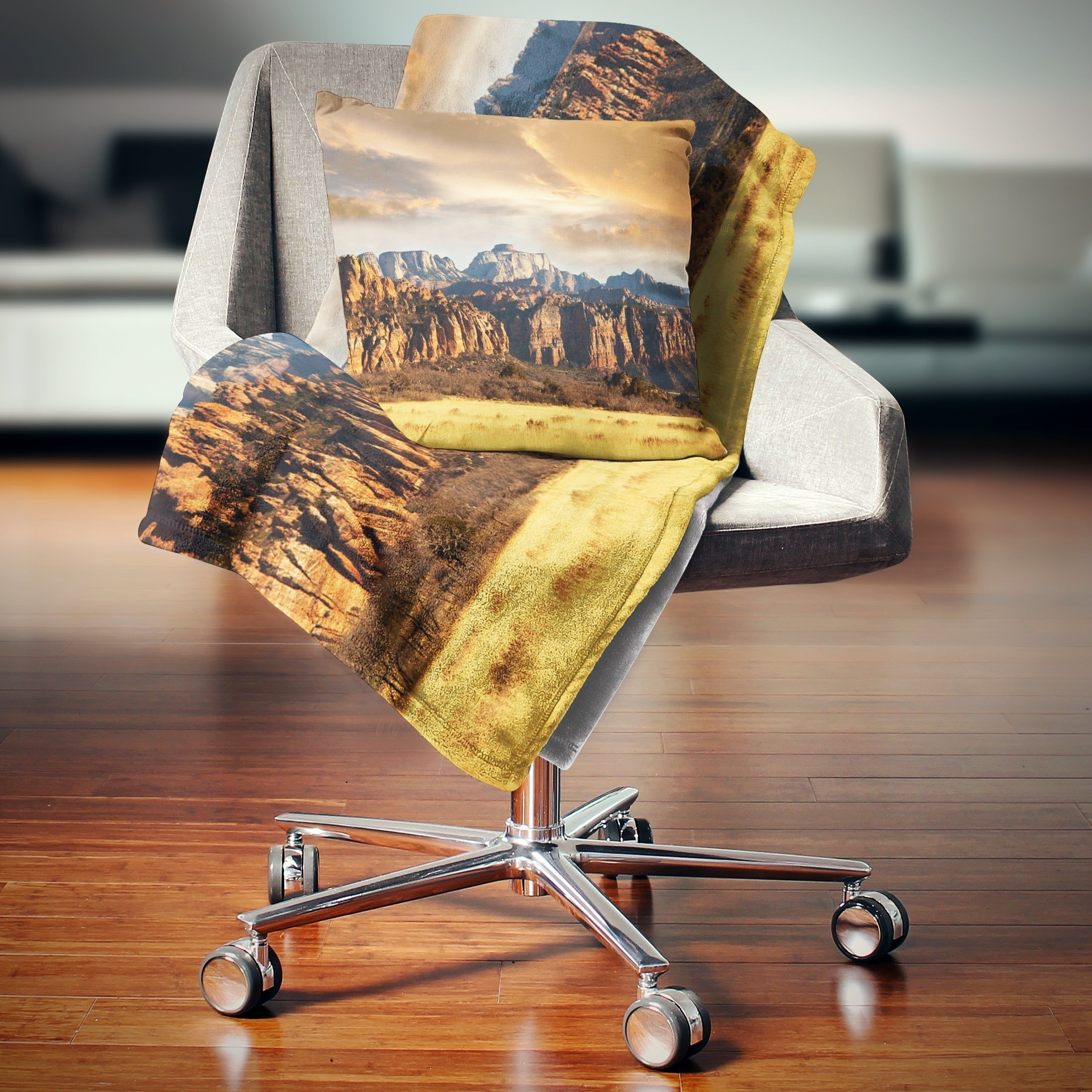 Designart 'Zion National Park Utah Usa' Landscape Fleece Throw Blanket | Overstock.com Shopping - The Best Deals on Blankets & Throws #utahusa