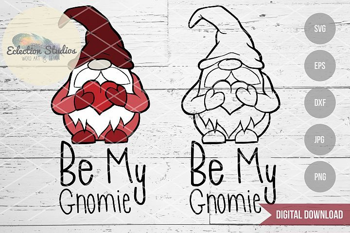 Download Gnome Valentine, Be My Gnomie, Gnome SVG | Valentines puns ...