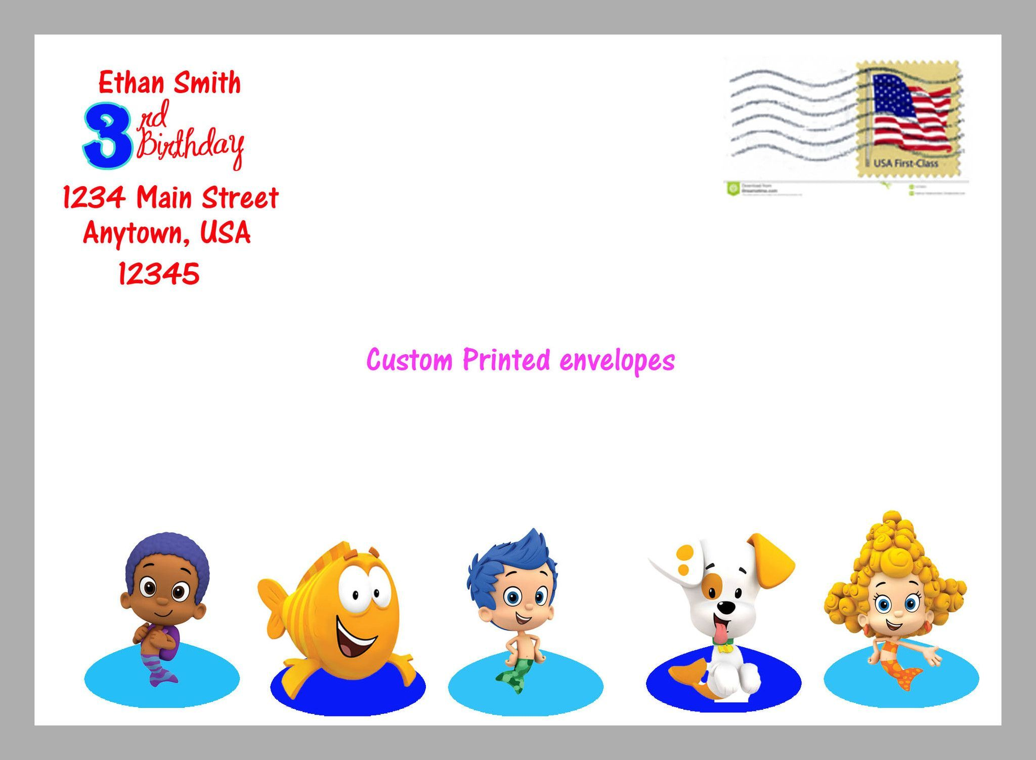 Bubble Guppies Envelopes | KIDS BIRTHDAY | Pinterest | Bubble ...