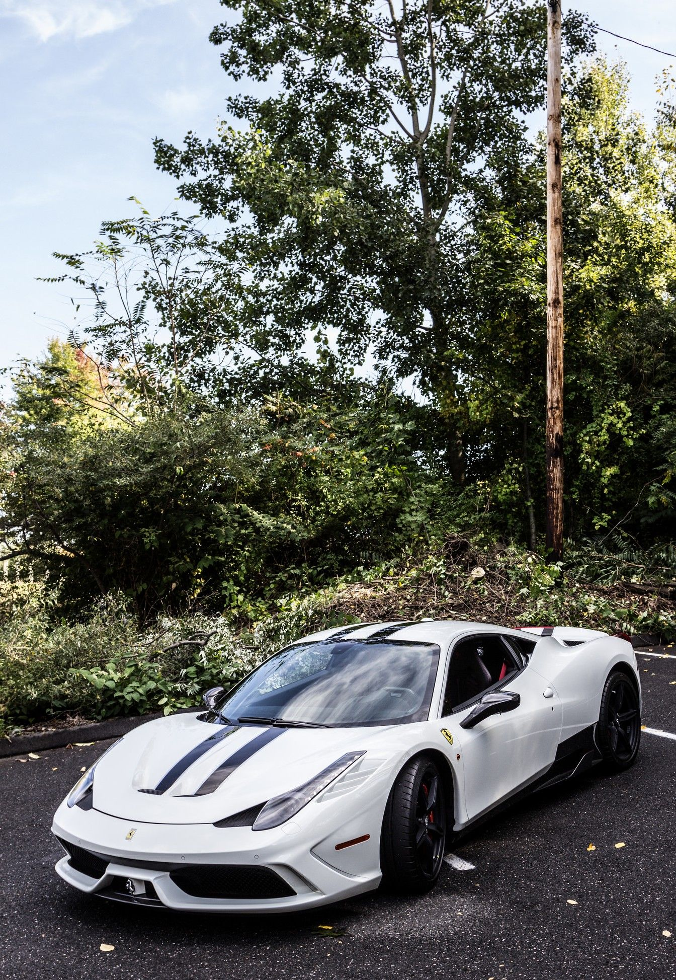 This Is How My Car Would Look Like White On Black Ferrari 458