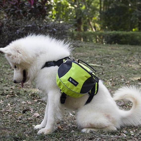 Harness Dog Saddlebags Pack Hound Travel Camping Hiking Dog