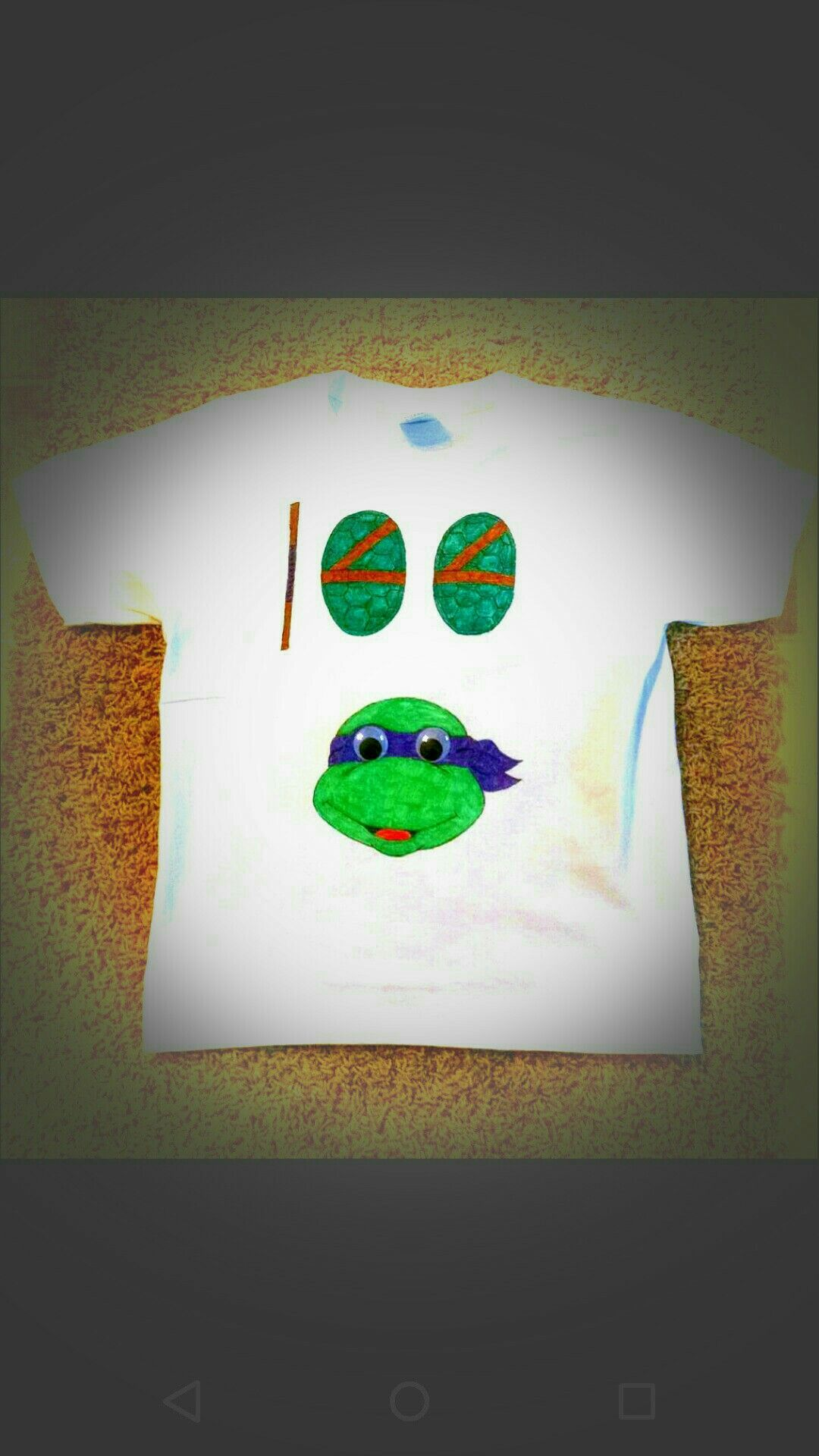 Teenage Mutant Ninja Turtle - 100th day of school T-shirt my daughter designed and painted.