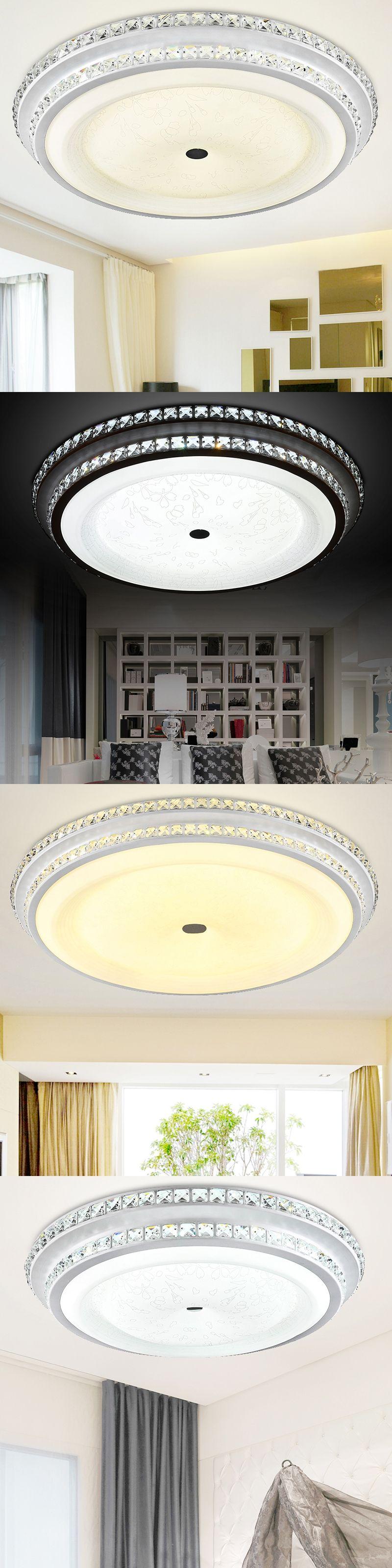 modern crystal ceiling lights bedroom living room lampen kristal ...