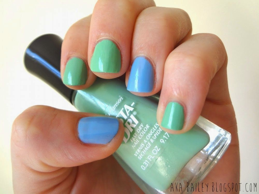 Jade Jump, jade and blue pastel nail polish | The Nail Files: a ...