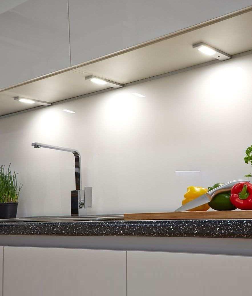 Slim Surface Mounted Under Cabinet Spot Lighting Touch Sensor Light Kitchen Cabinets Under Cabinet Lighting Cabinet Lighting