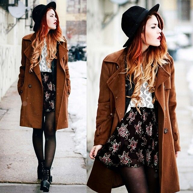 Luanna Perez Boho Vintage Outfit For Cold Weather So Edgy But Still Feminine Fashion Boho Winter Outfits Winter Outfits Dressy