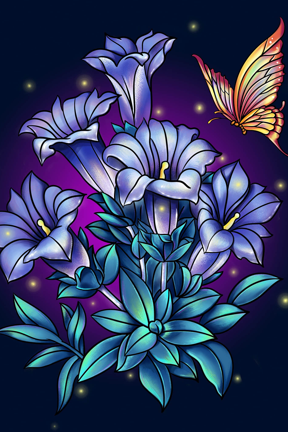 Paint By Number Free Coloring Book Puzzle Game Colorful Art Art Drawings Simple Flower Art
