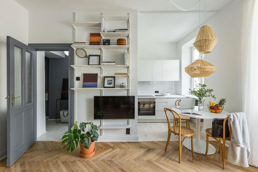 Scopri come dividere lo spazio tra cucina e soggiorno in un ambiente unico che integri le funzionalità di entrambi in una soluzione moderna e di grande impatto. Open Space 40 Idee Per Arredare Cucina E Soggiorno In Un Unico Ambiente Cucina Scandinava Strutturazione Cucina Arredamento