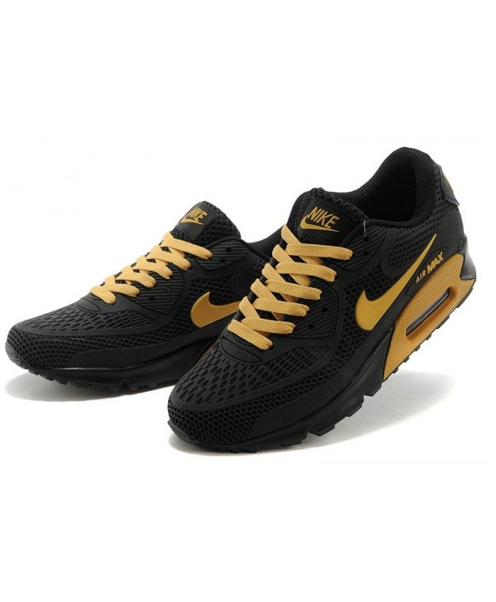 promo code 66892 d0688 Nike Air Max 90 Kpu Black Gold Mens Shoes Sale UK