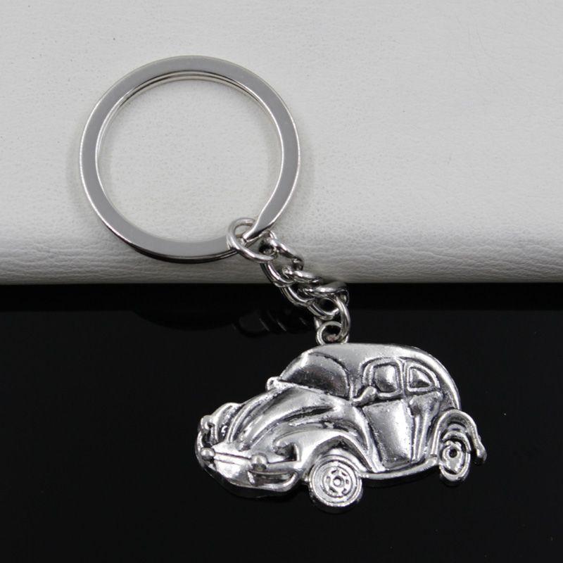 Auto Käfer Beetle Schlüsselanhänger Anhänger Silber aus Metall